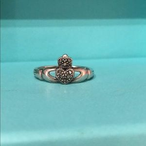 Jewelry - Irish Claddagh ring with marcasite stones